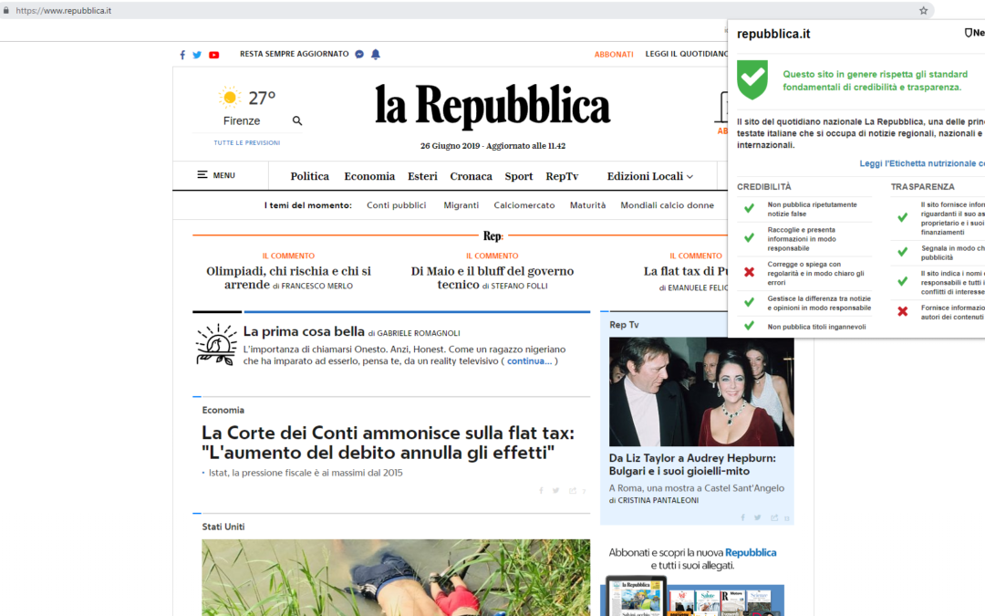 NewsGuard contro le fake news